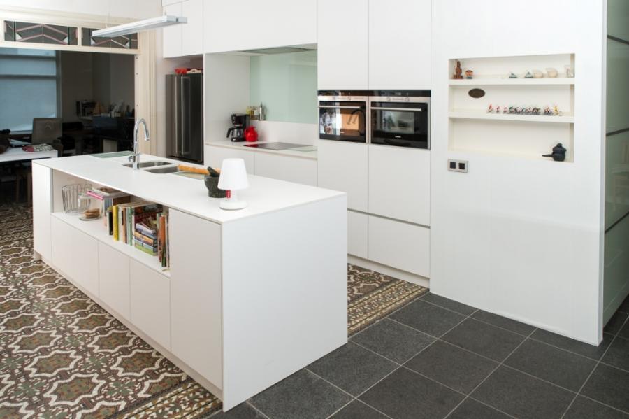 witte laminaat keuken